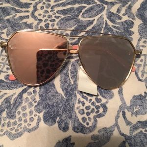 TAHARI gold and pink mirrored sunglasses